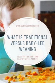 What is traditional versus baby-led weaning?