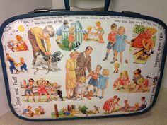 Decoupage Luggage by espoCraft on Etsy, $65.00