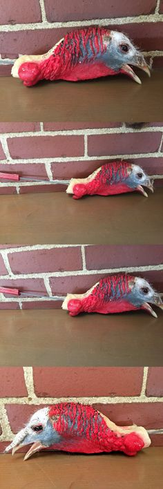 birds 71123 freeze dried taxidermy tom turkey head mount bird never been on bird hunting