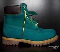 Aqua blue custom dye Boots