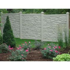 SimTek 6 ft. x 6 ft. Beige Polyethylene Privacy Fence Panel-FP72X72EBEG at The Home Depot