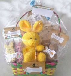 Dog treat easter basket easter dog treats pinterest dog dog easter fun gift basket for dogs negle Image collections