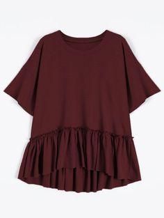GET $50 NOW | Join Zaful: Get YOUR $50 NOW!http://m.zaful.com/short-sleeve-ruffle-hem-t-shirt-p_275657.html?seid=q50g6asfb3fd7kglall4crkj03zf275657
