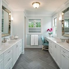 White And Gray Bathroom Tile gray and white bathroom with classic subway tile | home design
