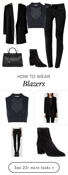 """Untitled #34"" by findthefinerthings on Polyvore featuring AllSaints, T By Alexander Wang, Yves Saint Laurent and Stuart Weitzman"