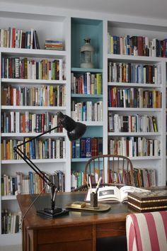 id homes design #office #bookshelf #vintagedesk
