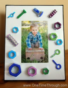 Father's Day Nuts and Bolts Frame --> pictures and instructions
