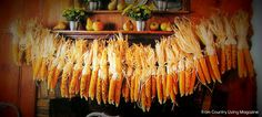 The Country Farm Home: Corn Garlands for Fall