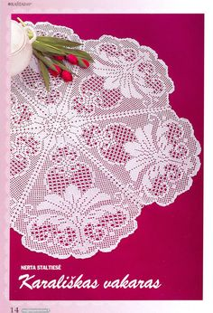 Lovely Filet doily….Free chart