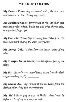 Where are your true colors? From David Zyla& book - Soft Autumn Deep, Deep Winter, Winter Colors, Summer Colors, Soft Summer Color Palette, David Zyla, Light Spring, Clear Spring, Seasonal Color Analysis
