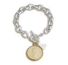 Von Treskow bracelet Coin Jewelry, Jewelry Art, Jewelry Rings, Jewelry Accessories, Jewlery, Watch Necklace, Bracelet Watch, Silver Bangle Bracelets, Coin Pendant