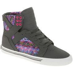 Supra Skytop Gray Multi High Top Sneakers  (I have these shoes they cost almost $100 in Journeys Underground)