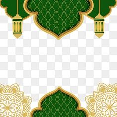 Islamic Art Pattern, Pattern Art, Backgrounds Free, Green Backgrounds, Eid Mubarak Background, Luxury Background, Green Texture, Clipart Images, Deco