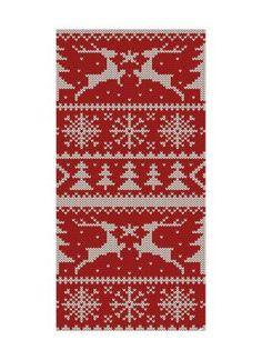 Weihnachts-Strickmuster Motivdruck 180x90 cm (L/B) Papier