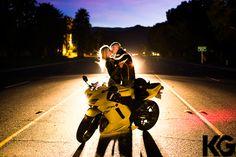 Motorcycle engagement shoot!  KathleenGeibergerart.com