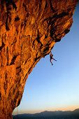 WOMAN ROCK CLIMBER AT CAVE ROCK - LAKE TAHOE PHOTO @ ANNE-MARIE WEBER