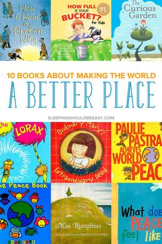 Inspire our future generation with children's books about making the world a better place. Get ideas to teach empathy, kindness to people and taking care of our world. These 10 children's books about changing the world will inspire and show kids how to do Kids Reading, Teaching Reading, Teaching Kids, Teaching Tools, Reading Lists, Summer Reading 2017, Summer Reading Program, Build A Better World, Preschool Books