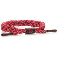 Rastaclat Rover Bracelet ($16) ❤ liked on Polyvore featuring men's fashion, men's jewelry, men's bracelets, red, mens leather braided bracelets and mens woven bracelets
