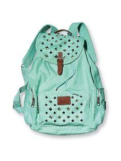 New Victoria's Secret Pink Mini Backpack Mint Aztec | Michael kors ...