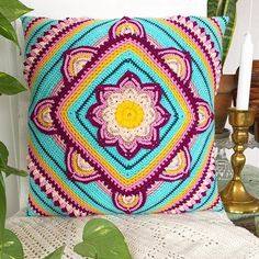 I LOVE the colours @c_flintholm has used for her In Bloom pillow ❤️Pattern available in Swe, Eng/US and Dutch on my blog and in @favoritgarner 's FB-group  . #Repost @c_flintholm with @repostapp ・・・ Finished my #inbloomcal cushion yesterday! I'm totally in love with it's boho vibe!  . Thank you so much for this gorgeous  pattern @mijocrochet! It was my first CAL and I loved every stitch to the extent that I'm almost sad it's finished. Just like being absorbed by a good book, w...