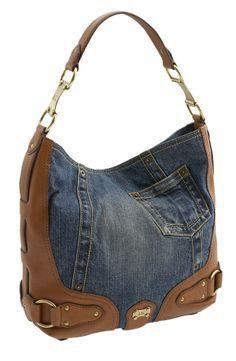 Best 12 Knitting Spliced Style Shoulder Bag For Women – SkillOfKing. Denim Handbags, Purses And Handbags, Leather Handbags, Sacs Design, Jean Purses, Diy Sac, Recycled Denim, Denim Bag, Fabric Bags