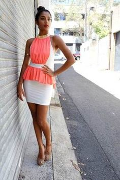 White and Pink Cocktail Dress Pink Cocktail Dress, Online Boutiques, Dresses For Sale, Clothes, Look, Fashion, Tall Clothing, Fashion Styles, Clothing Apparel