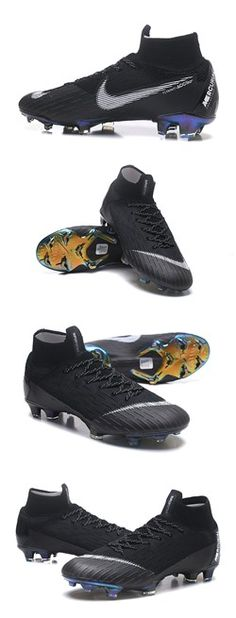0826c42fa Nike Mercurial Superfly 6 Elite FG Zapatillas de Fútbol - Negro Blanco.  ChuteirasFutebolSapatosChuteiras De FutebolBotas ...