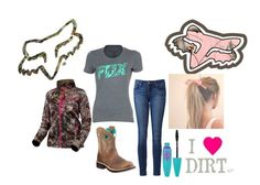 """I ❤️  Dirt"" by red01 ❤ liked on Polyvore featuring Fox, Paige Denim, Ariat, Maybelline and Realtree"