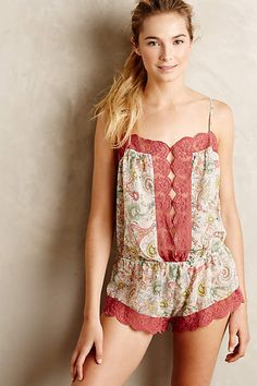 Pamina Laced Romper - anthropologie.com