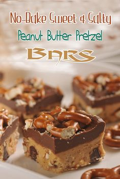 No-Bake Sweet And Salty Peanut Butter Pretzel Bars