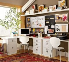 20 space saving office designs with functional work zones for two - Small Home Office Design Ideas