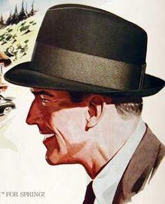 Chapéu mais usado na década de 30 era o modelo fedora, usado caído sobre os olhos para criar uma aparência de um ar mais misterioso.