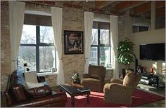 #RobertWatson #Loft, #Toronto Exposed Brick Walls, Arched Windows, Polished Concrete, Wood Ceilings, Workout Rooms, Open Concept, Locker Storage, Toronto, The Neighbourhood