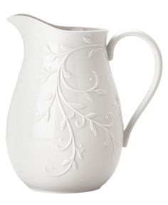 Lenox Dinnerware, Opal Innocence Carved Pitcher - Fine China - Dining & Entertaining - Macy's