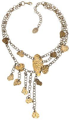 Halskette Metallic Light weiß Kristall