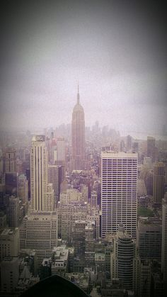NYC on a shady day from Rockefeller Center