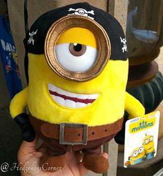 Minions Movie Exclusive Universal Studios Authentic Quality Plush Stuart Pirate - Other