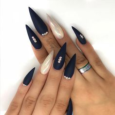 24 Ideas with Long Nails for Different Shapes ★ Stiletto Shape Long Nails Picture 4 ★ See more: http://glaminati.com/long-nails/ #longnails #naildesign