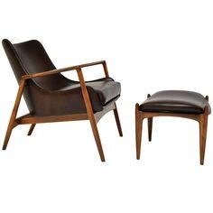 Ib Kofod Larsen Seal Chair & Ottoman- good man chair thats not too bulky