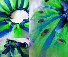 Pfau Kostüm selber machen - 20 Ideen für Fasching und Halloween