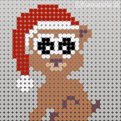 To måneder til juleaften - har I bestilt julerøde perler? Perler Bead Designs, Hama Beads Design, Pearler Bead Patterns, Perler Patterns, Pearler Beads, Snowman Cross Stitch Pattern, Cross Stitch Patterns, Craft Stick Crafts, Diy And Crafts