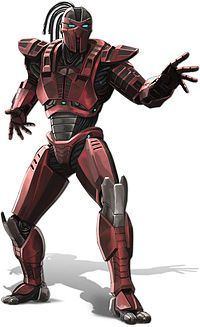 Sektor- Mortal Kombat; a cyborg ninja who used to be human until he was automated, along with Cyrax and Smoke. Throughout the various Mortal Kombat games he was involved in, Sektor has grown into an ever more menacing mechanized warrior. He represents the closest thing to evil a cyborg can be,& combines traits of both a stealthy ninja & a ruthless killing machine.