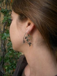Want! Alba earrings  Handcrafted Historical Ornament by AThousandJoys, $148.00