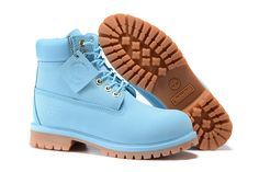 Fashion Winter Timberland 6 inch Premium Boots SkyBlue For Kids,blue leather timberland boots