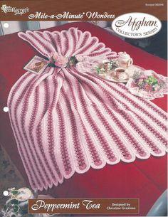 Peppermint Tea Crochet Afghan Pattern by KnitKnacksCreations