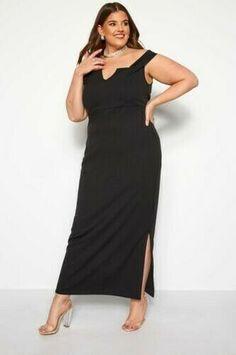 Abbigliamento Donna Yours Taglie Forti Nero /& Bianco a Righe Cami Top