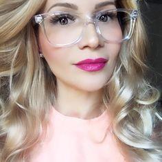 6885787bb5 Square Rectangular Frames Black Brown or Crystal Clear Lens Fashion  EyeGlasses L  Fashion Clear Eyeglass