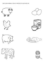 Products from farm animals match and color Preschool Learning Activities, Animal Activities, Free Preschool, Preschool Curriculum, Kindergarten Worksheets, Kids Learning, Money Worksheets, Therapy Worksheets, Handwriting Worksheets