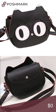 SOON! The Black Kitty Vegan Leather Crossbody Bag COMING SOON TO COLOR ME CRAZY BOUTIQUE! Color ME Crazy Boutique Bags Crossbody Bags