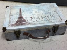 """""""Paris suitcase""""   Turn thus into a portable vanity case for shoots oh yeah :)"""